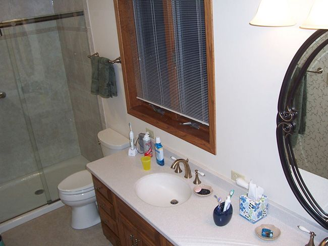 Bathroom remodel with sink