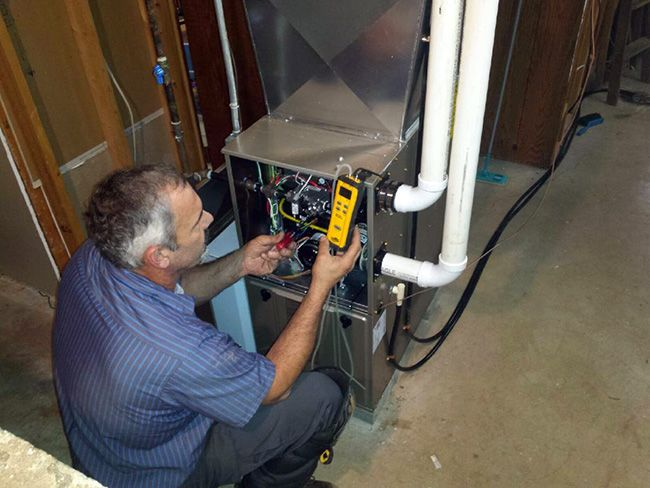 furnace maintenance from technician
