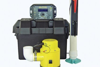 Protect your home from flooding with a sump pump.