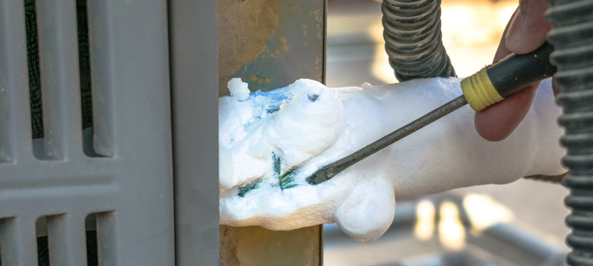 Call Martens Plumbing to repair you icy air conditioner