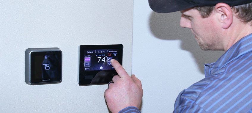Installing a wireless home thermostat